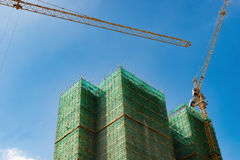 Talk building under construction Royalty Free Stock Images