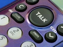 Talk Button Stock Photography