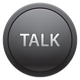Talk button. Grey plastic phone button Talk Royalty Free Stock Images