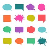 Talk color bubble stock illustration