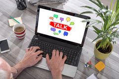 Talk concept on a laptop Stock Photography