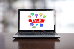 Talk concept on a laptop Royalty Free Stock Photography
