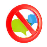 Talk conversation forbidden sign Royalty Free Stock Images