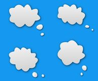 Talk dialog cloud. White speach dialog balloon royalty free illustration