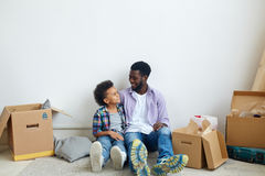 Talk of father and son Stock Photography