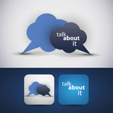 Talk about it - flyer or cover design. Talk about it, speech bubbles illustration, flyer or cover design Stock Images