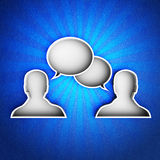 Talk icon Stock Photo