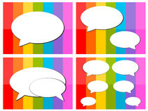 Talk icon in colorful background illustration Stock Images