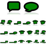 Talk icons Stock Image