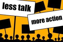 Less talk more action Stock Photos