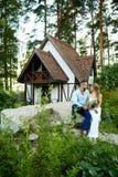 Talk of newlyweds Royalty Free Stock Image