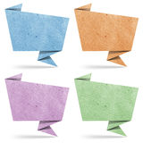 Talk origami tag recycled paper Royalty Free Stock Photography