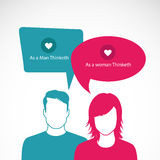 Talk. People with clouds thoughts. Vector illustration vector illustration