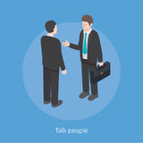 Talk people concept design 3d isometric  illustration Stock Photos