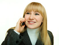 Talk on the phone Royalty Free Stock Photography