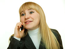 Talk on the phone Royalty Free Stock Image