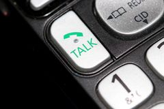 Talk phone button close up shot royalty free stock photo