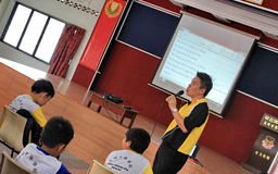 A talk in primary school Stock Images