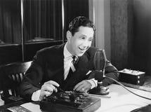 TALK-RADIO (alle dargestellten Personen sind nicht längeres lebendes und kein Zustand existiert Lieferantengarantien, dass es kei lizenzfreies stockfoto