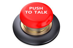 Talk Red  Button Royalty Free Stock Photos