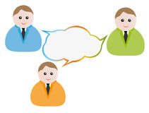 Talk scheme. Illustration of talk scheme. Work group Royalty Free Stock Images