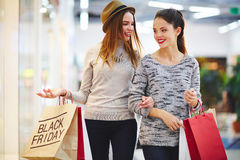 Talk of shoppers Stock Photography