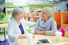 Talk after shopping Stock Photo