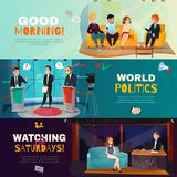 Talk Show Banners Stock Image