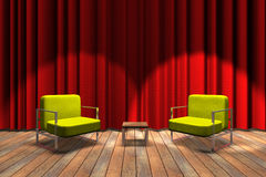 Talk show ready Royalty Free Stock Photography
