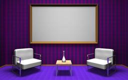 Talk show room vector illustration
