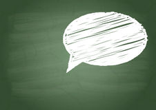 Talk sign. On a green school board Royalty Free Stock Photo