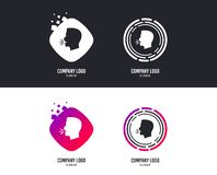 Talk or speak icon. Loud noise symbol. Vector. Logotype concept. Talk or speak icon. Loud noise symbol. Human talking sign. Logo design. Colorful buttons with stock illustration