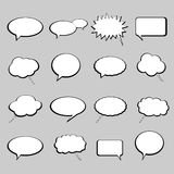 Talk and speech balloons or bubbles Royalty Free Stock Images