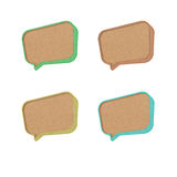 Talk tag 3D recycled paper Royalty Free Stock Photos