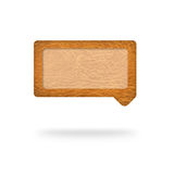 Talk tag,leather texture Stock Images