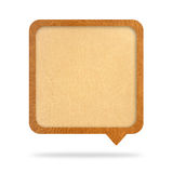 Talk tag,leather texture Royalty Free Stock Photography