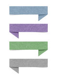 Talk tag recycled paper. Craft for make note stick on white background Royalty Free Stock Photography