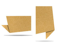 Talk tag recycled paper craft. For make note stick Royalty Free Stock Photo