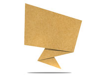 Talk tag recycled paper craft.  Royalty Free Stock Photography