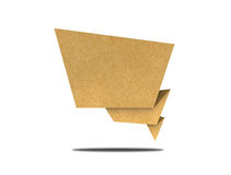 Talk tag recycled paper craft Royalty Free Stock Photos