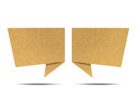 Talk tag recycled paper craft for make note stick. On white background Stock Photo