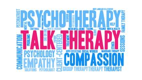 Talk Therapy Animated Word Cloud stock video