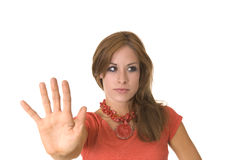 Talk to the hand Royalty Free Stock Image