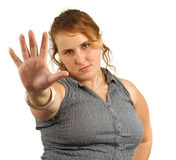 Talk To The Hand stock photography