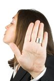 Talk to the hand - business woman Stock Photos