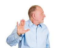 Talk to the hand, face ain't hearing it Royalty Free Stock Photography