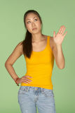 Talk to the Hand Gesture Royalty Free Stock Image