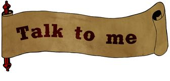 TALK TO ME text on old scroll paper drawing illustration Royalty Free Stock Photo