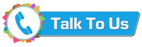 Talk To Us Colorful Random Circular Bar Stock Photos