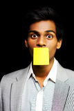 Talkative forgetful office worker Royalty Free Stock Images